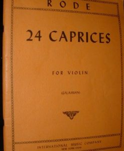 Rode - 24 Caprices for Violin. Edited by Ivan Galamian